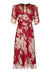 Mae dress in red rosegarden silk georgette - front mannequin