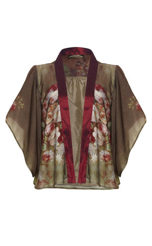 Mariella jacket in Rembrandt Rose print