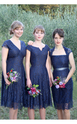 Bridesmaids dresses in midnight blue
