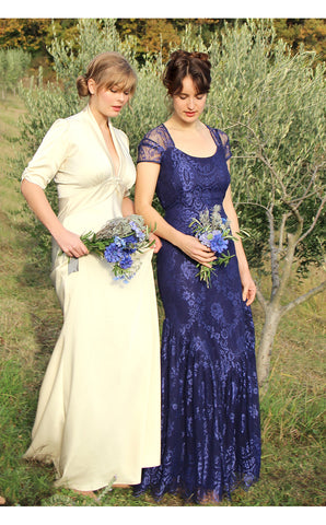 Bridesmaids dresses in celeste