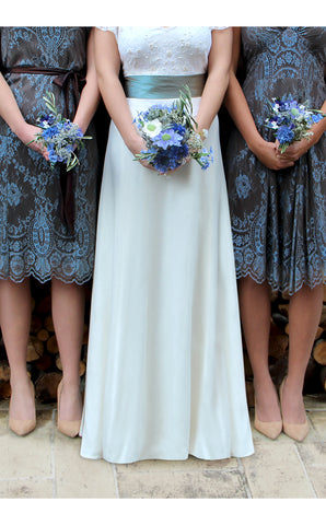 Bridesmaids dresses in Winter blue
