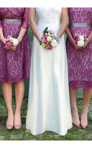 Bridesmaids dresses in rose