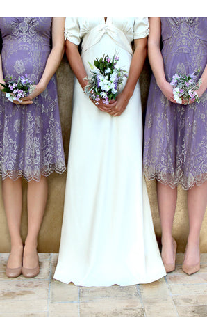 Bridesmaids dresses in orchid