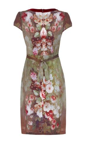 Kelly dress in Rembrandt Rose print