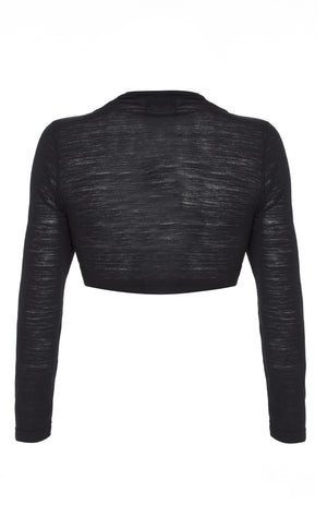 Belle shrug in black fine knit