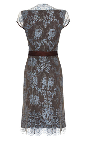 Olivia dress in Winter Blue lace