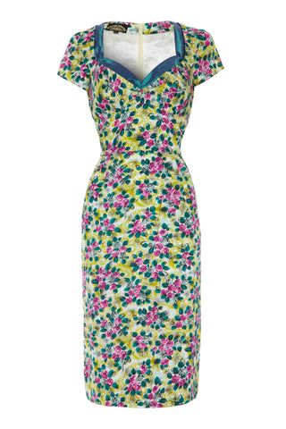 Kelly dress in Rosetti print silk cotton - front mannequin shot
