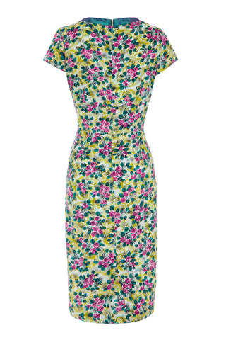 Kelly dress in Rosetti print silk cotton - back mannequin shot