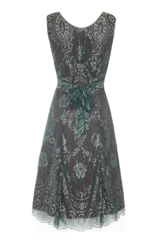 Kristen dress in reef and teal lace - back mannequin shot