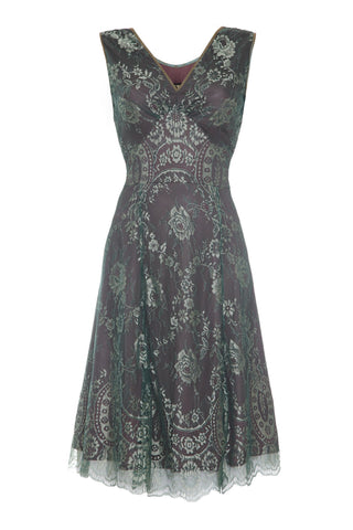 Kristen dress in reef and teal lace - front mannequin shot
