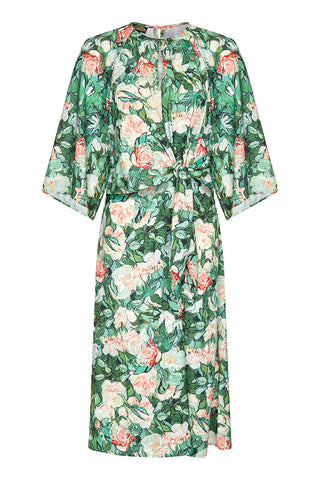 62ad887a0d71 Dolce dress in Celadon rose print crepe - mannequin front
