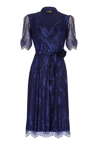 Nancy Mac Eliza dress in Celeste blue lace - mannequin front