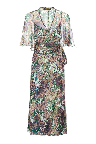 Nancy Mac Florrie dress in Fioretta print silk georgette - front mannequin shot