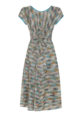 Kristen dress in Sorrento knit - back mannequin