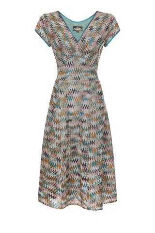 Kristen dress in Sorrento knit - front mannequin