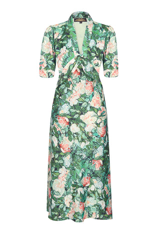 d9102ab2b81a Sable dress in Celadon Rose print crepe - mannequin front