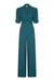 Nancy Mac Sable jumpsuit in emerald moss crepe - front mannequin shot