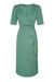 Nancy Mac Suzanna dress in lagoon crepe - front mannequin