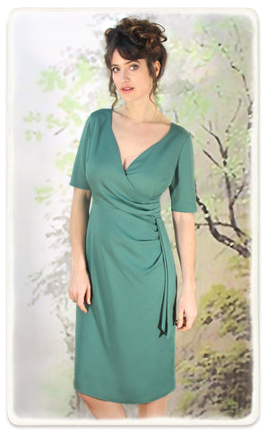 Suzanna dress in lagoon crepe