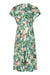 Valeria dress in Celadon rose print crepe - mannequin front