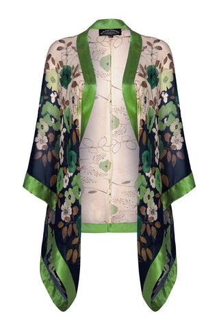 Nancy Mac shrug in green Fleur print