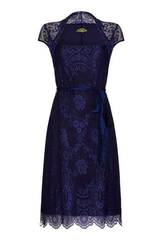 Olivia Dress in Celeste Blue Lace