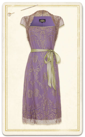 Olivia dress in orchid lace