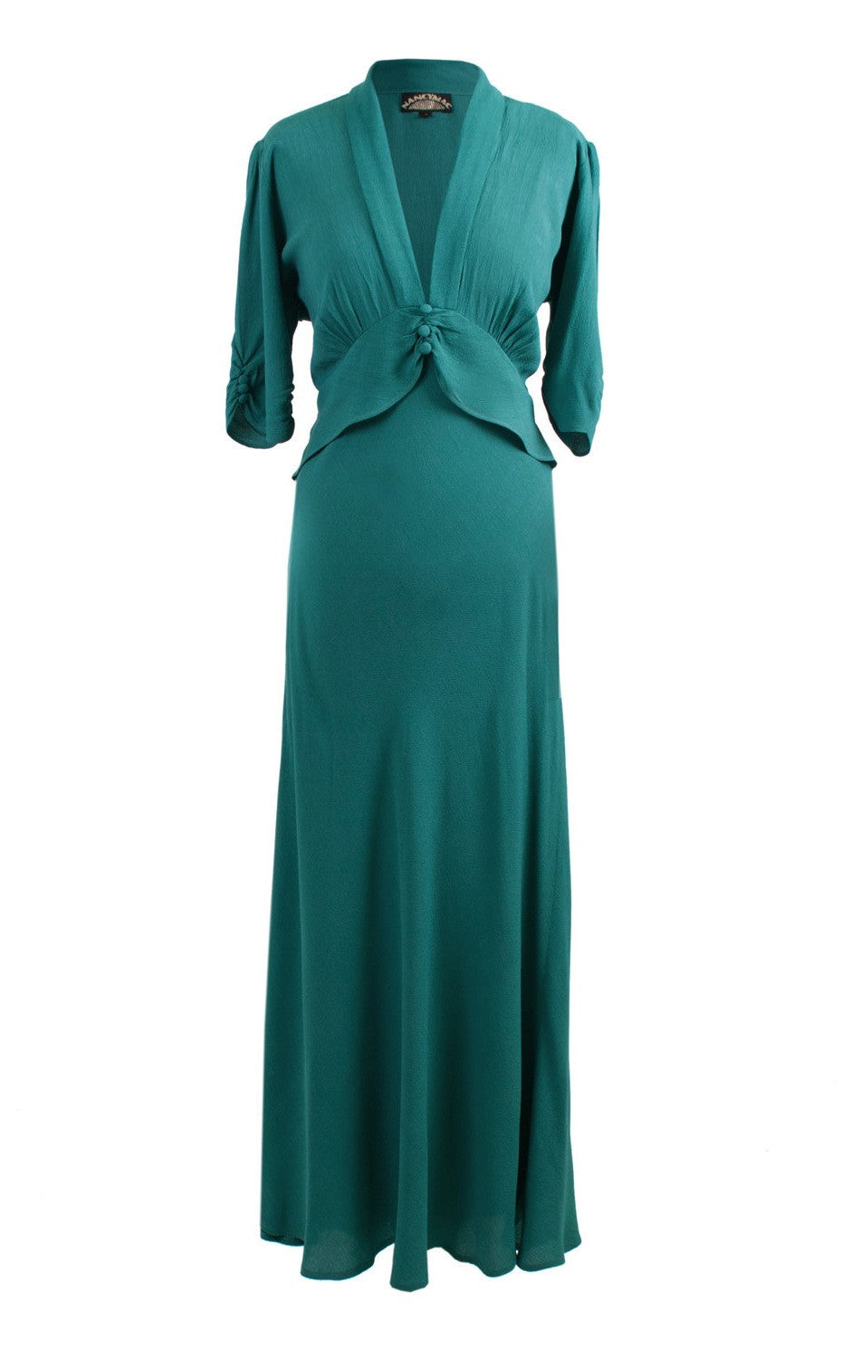 Sable maxi dress in teal - front mannequin shot