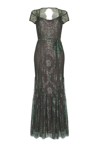 Sirene Dress in Reef and Teal Lace