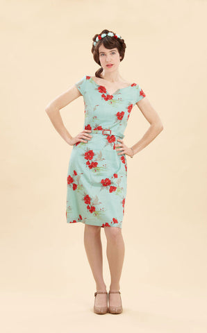 Vivi dress in Hibiscus silk cotton