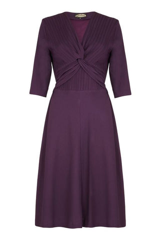 Allegra dress in currant crepe