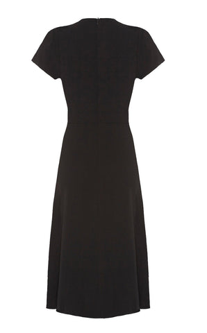 Anya dress in black crepe