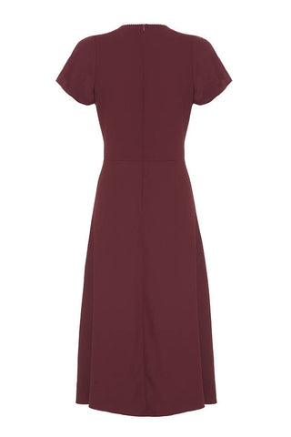 Anya dress in garnet crepe