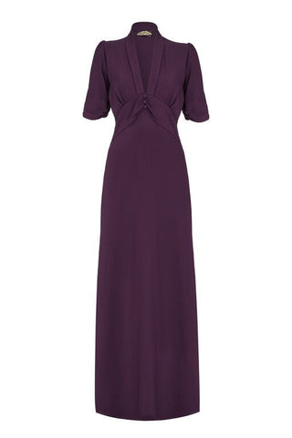 Sable Maxi Dress in Currant Crepe
