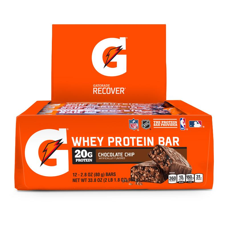 Caja Gatorade Whey Protein Bar Chocolate