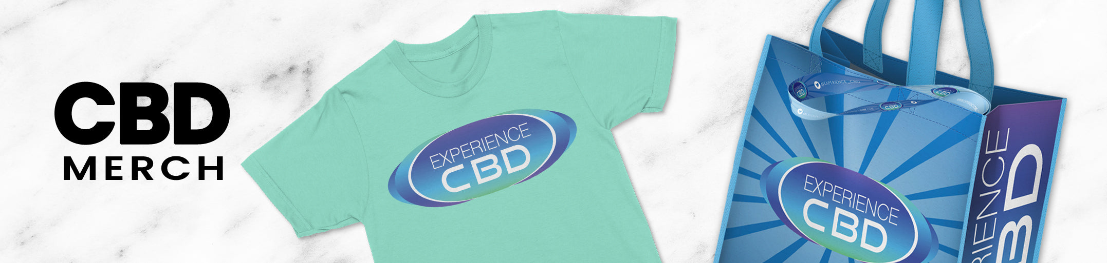 Experience CBD Merchandise | Tshirts, Tote bags, and lanyards