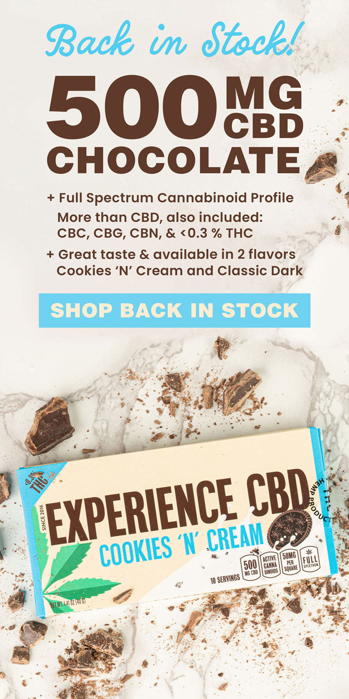 Try 2 Chocolate flavors   Cookies and Cream or Classic Dark Chocolate   Yummy Chocolate with THC   Shop our Back in stock