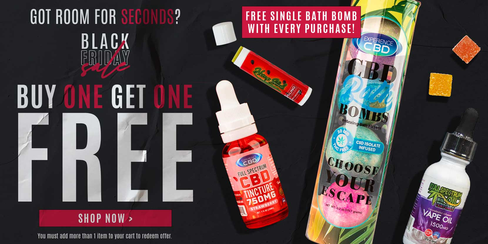 Black friday deals on CBD | CBD for sale | CBD bath bombs for sale | buy one get one free on cbd