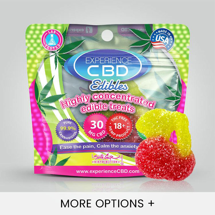 Experience CBD | CBD Edibles | CBD Gummies - Cherry Flavored - 30mg CBD