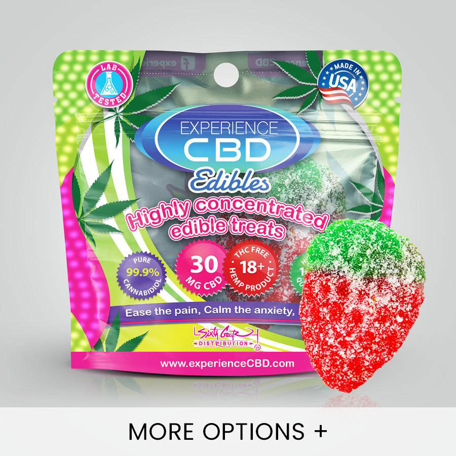 Experience CBD | CBD Edibles | CBD Gummies - Sour Strawberries - 30mg
