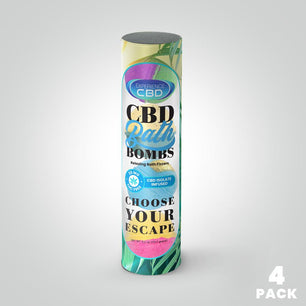 4 pack of CBD Bath Bombs - 120mg CBD