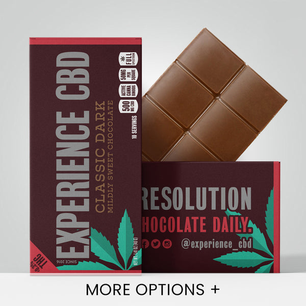 Experience CBD | CBD Edibles | Full Spectrum CBD Chocolate bar - 500mg CBD - Classic Dark