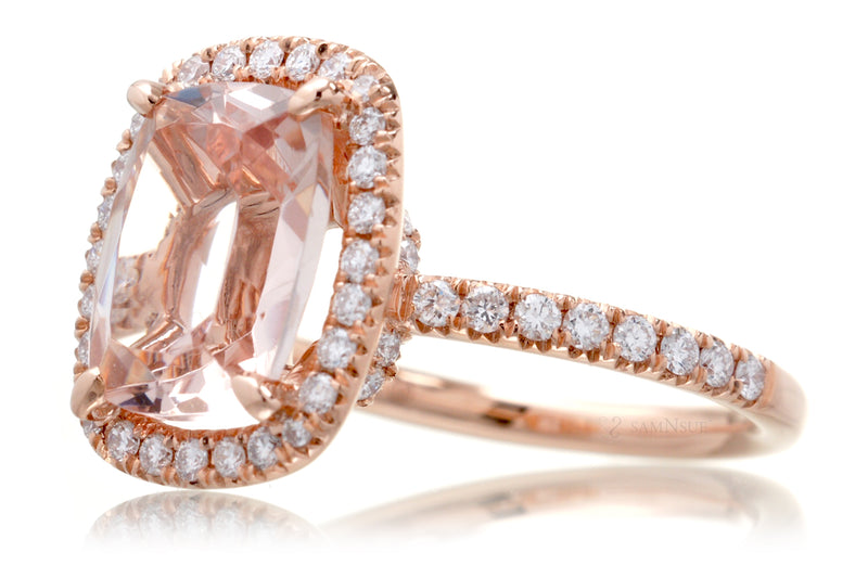The Drenched Cushion Morganite