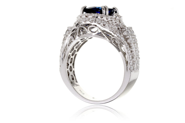 The Sharon Oval Sapphire Diamond Ring (5.16 ct. tw.)
