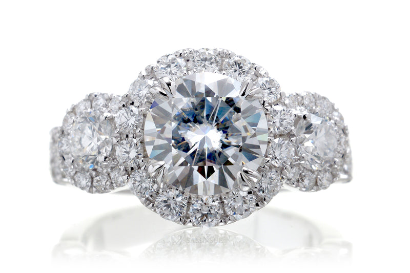The Margaret Round Moissanite