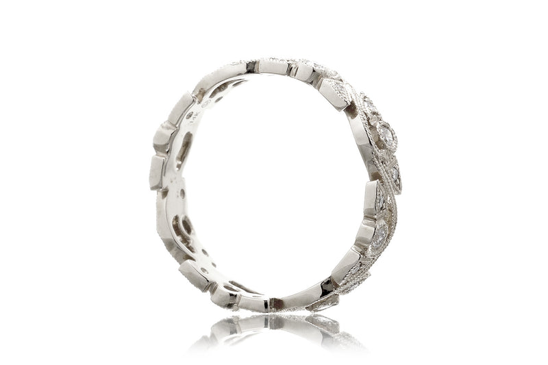 The Leaf And Vine Eternity Band