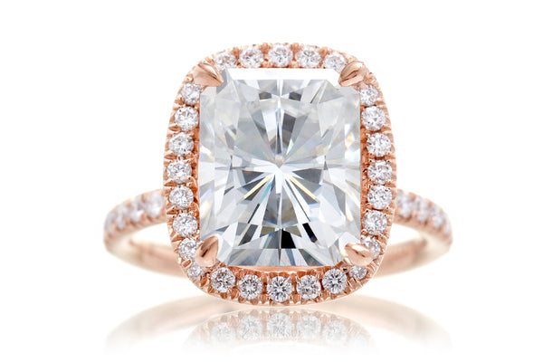 The Drenched Radiant Moissanite