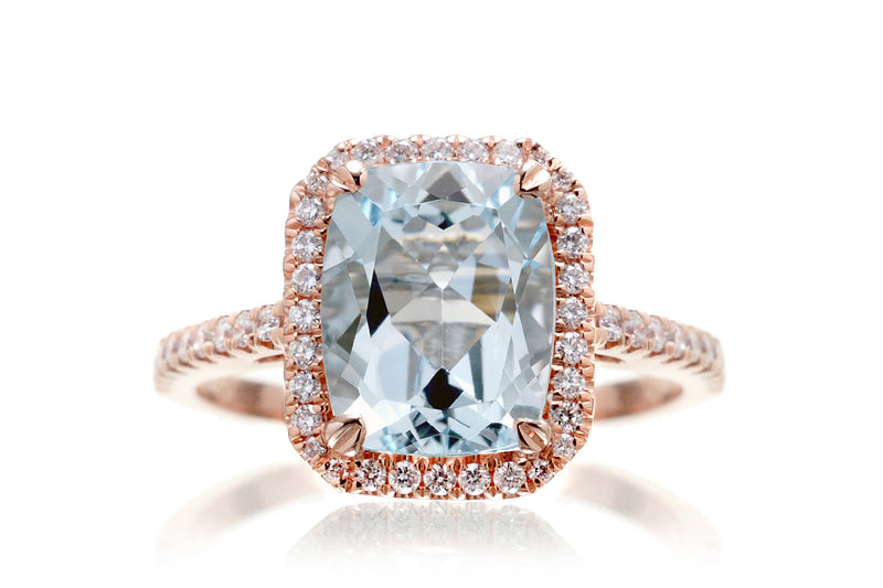 The Signature Cushion Aquamarine
