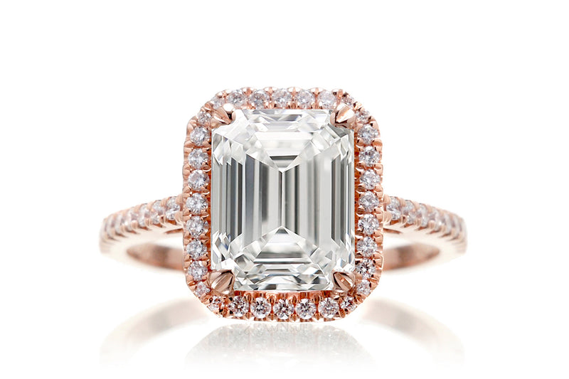 The Signature Emerald Lab-Grown Diamond Ring | Rose Gold