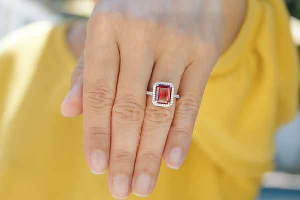 The Signature Emerald Cut Lab Grown Ruby